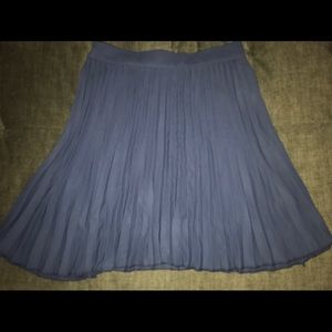Navy blue pleated circle skirt